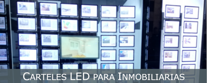 Carteles LED Inmobiliaria